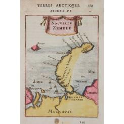 Novaya Zemlya Old map Russia Allain Manesson Mallet 1683