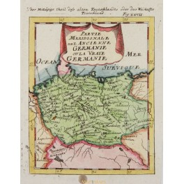 North Germany Del Ancienne Germanie map by Mallet 1686