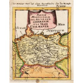 NORTH GERMANY ANCIENNE GERMANIE ANTIQUE MAP BY MALLET 1684