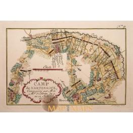 1757 map CAMP DE HERTSBROCK Herzebrock Germany. van Schley