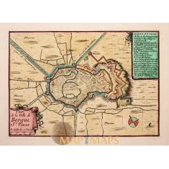 Bergues-Saint-Winocq St. Vinox, France Beaulieu antique plan 1688