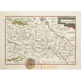 France Switserland Germany antique map Tassin 1648