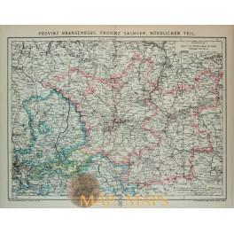 Germany Brandenburg Berlin Poland history map 1892