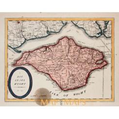 The island of Wight antique map Von Reilly 1789