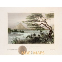 Rio Lajas Rivermouth Costa Rica Old print Meyer 1850