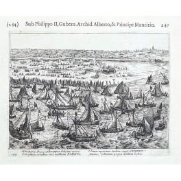 Flanders Belgium fleet attack 80 years Dutch Spanish war copper Guicciardini 1612
