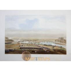 Battle of Montereau Antique print 1860 Napoleonic Wars