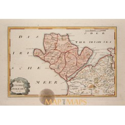 Isle of Anglesey antique map Wales by Von Reilly 1791