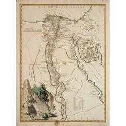 Egypt Atlas map Carte De L'Egypte Vaugondy 1757