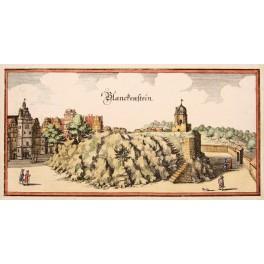 Blankenburg Harz Blankenstein Germany, Antique engraving 1656 Merian