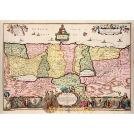 Benghazi Port Libya Africa old antique chart by Roux 1764