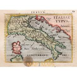Italy antique map Italiae Typus by Ortelius 1590