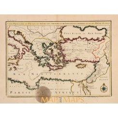 Apostle Paul journey Calmet map of the Mediterranean 1730