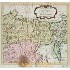 Siberia map North Asia Carte de la Sibérie - Bellin 1747