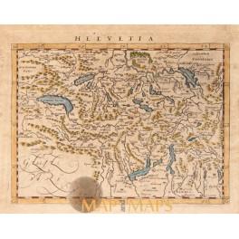 Helvetia Switzerland antique old map Anonymous c.1700