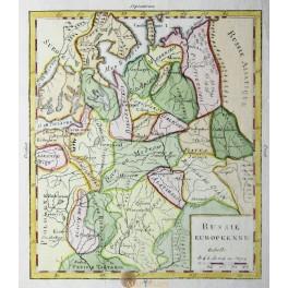 Russie Blanche Ou Moscovie Vaugondy 1748
