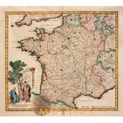 Carta Geografica del Regno Di Francia Tirion, 1775.
