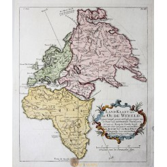 World continents map, Europe Africa Asia by Vaugondy 1749