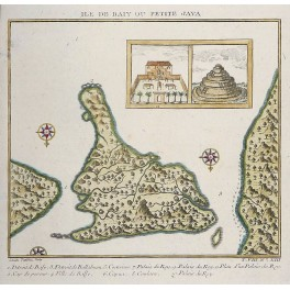 Java Bay Island Indonesia antique map by Bellin 1754