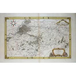 1720 Antique Map du Duché de Valois France Samuel Baron von Pufendorf