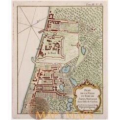 Jaffna Fort Sri Lanka La Ville Et Fort De Jaffa Nepatan Bellin 1764