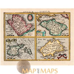 Anglesey Ins Wight ol Vectis etc. Mercator map 1634