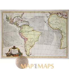 Trade ways of the Europeans in the World. old map Bonne 1770