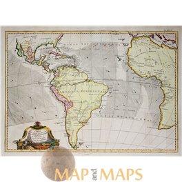 The America's Africa the Caribbean Islands map Bonne 1770