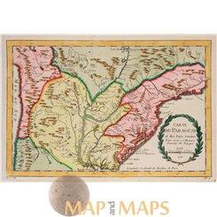 Carte du Paraguay antique map Paraguay by Bellin 1756.