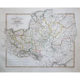 Slavic Countries Poland Latvia Lithonia Czech/Slovaks antique map Spruner 1846