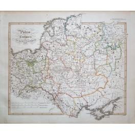 Poland Lithuania Ukraine Historical antique map Spruner 1846