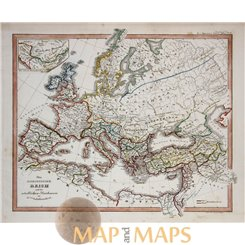 Europe old map Roman Empire by Karl Spruner 1846