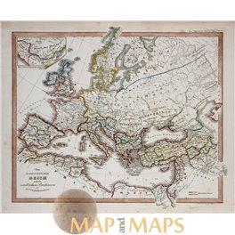 The Roman Empire in Europe Island antique map Spruner 1846