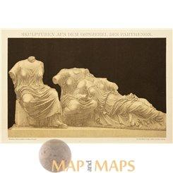 Parthenon Sculptures, Antique print by Brockhaus