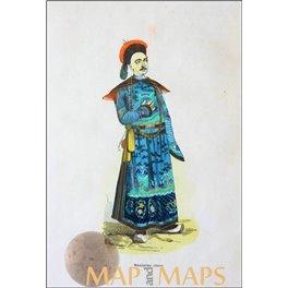 Mandarin Chinese antique old print Dally Nicolas 1845