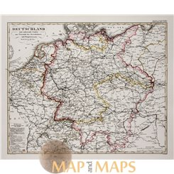Germany and surrounding countries old map Justus Perthes 1853