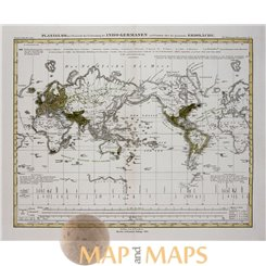 Indogerman over the World Old map Indo-Germanen Perthes 1852