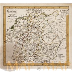 Europe Germany Mountain River antique map Berghaus 1861