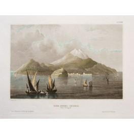 Italy Island of Ischia antique print 1849