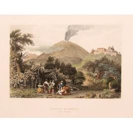 Volcano CALSCRONA Monastery St. Angelo Italy 1839 print