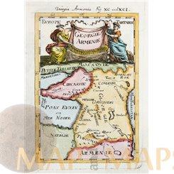 Armenia and Georgia antique old print Georgie Armenie by Mallet 1683