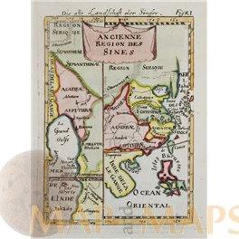 Ancienne Region Des Sines antique old map Asia by Mallet 1683