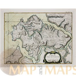 FRENCH GUIANA-SOUTH AMERICA-OLD MAP BELLIN 1764