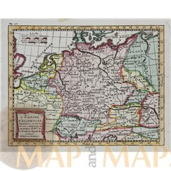 German Empire antique map by Claude Buffier 1769