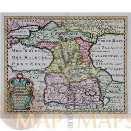 Georgia Armenia TURCOMANIA GEORGIEN map by Sanson 1705