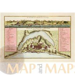 Plan de la Ville de St. Salvador Brasil Colonial map Bellin 1758