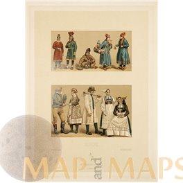 Suede Sweden Schweden Antique Costume Print Didot 1860