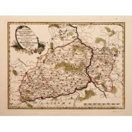Poland Polska antique map Sandomir by Reilly 1790