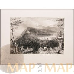KAATERSKILL, HUDSON RIVER, USA, ANTIQUE PRINTS BY BARTLETT 1840