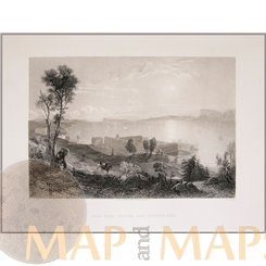 Sing Sing Prison and Tappan Sea Antique Prints by Bartlett 1840